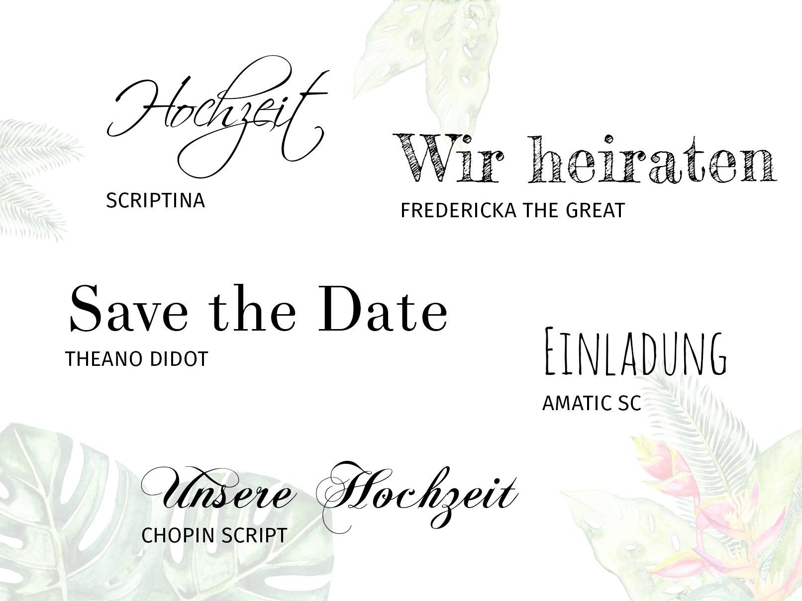 5 Wedding Fonts In Der Übersicht