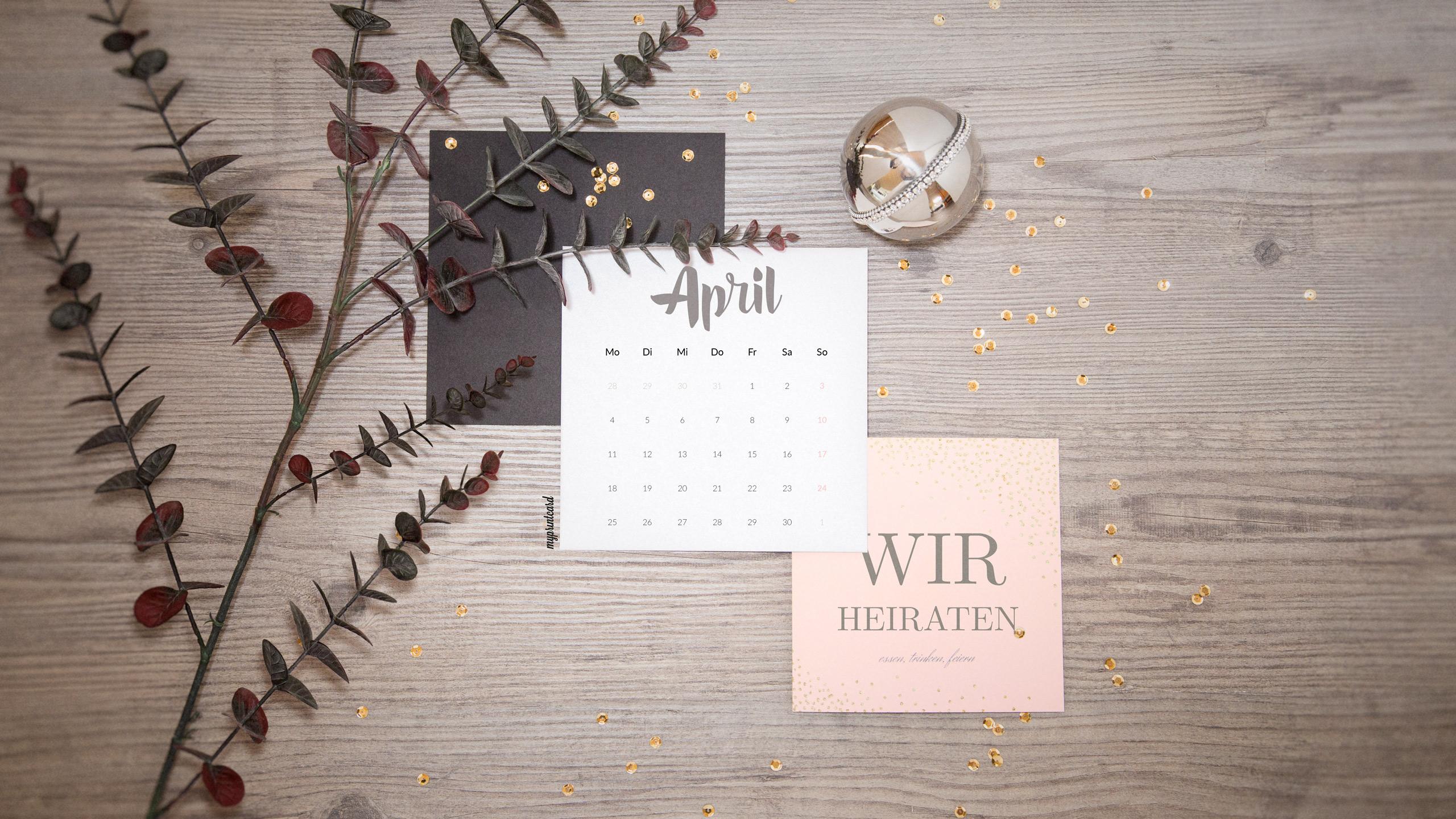 Hochzeitsflair Fur Euren Pc Unser Wallpaper Im April 2016
